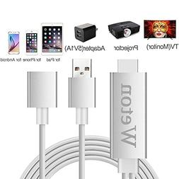 Lighting to HDMI Cable Adapter,Weton Lightning Digital AV Ad