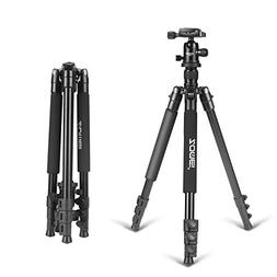 ZOMEI 64.5-Inch Lightweight Aluminum Camera Tripod With Bag,