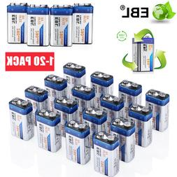 Lot EBL 280mAh 9V Volt 6F22 Ni-MH Rechargeable Batteries Bat
