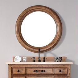 "James Martin Malibu 40"" Mirror in Honey Alder"