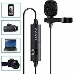 MAONO Lavalier Microphone, Hands Free Clip-on Lapel Mic with