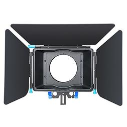 Annsm Matte Box with Aluminum Alloy Material for 15mm Standa