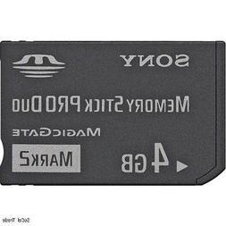 4GB Memory Stick Pro Duo Memory Card