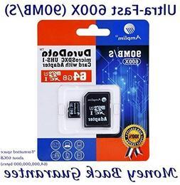 Amplim 64GB Micro SD SDXC Memory Card Plus Adapter Pack  64