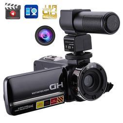 Camera Microphone,Remote Control IR Night Vision 1080P 24MP