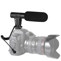 Camera Microphone, Shotory Video Recording Microphone Profes
