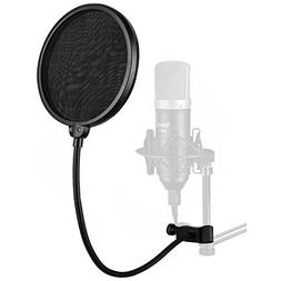 YOUSHARES Mic Pop Filter Windscreen, 6 inch Microphone Wind