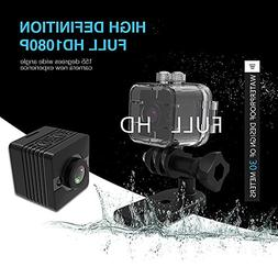 E T Mini Camera SQ12 Mini Sports HD DV Waterproof Camcorder