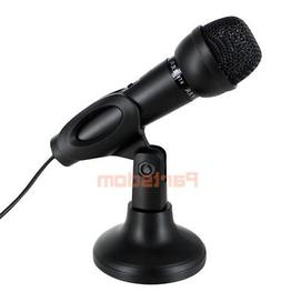 Mini 3.5mm Studio Speech Vocal Microphone MIC with Stand Mou