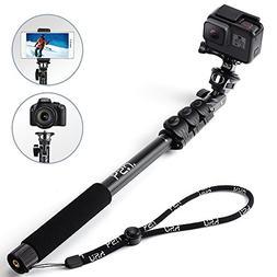 HSU Monopod Selfie Stick for GoPro/GoPro Hero, Smartphone, C