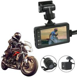 """Motorcycle Car 3"""" LCD Action Dual Camera Dash Cam Video Camc"""