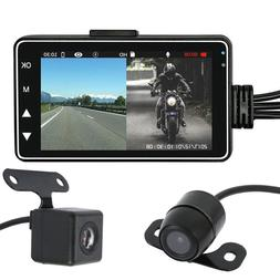 "Motorcycle Car 3"" LCD Action Dual Camera Dash Cam Video Camc"