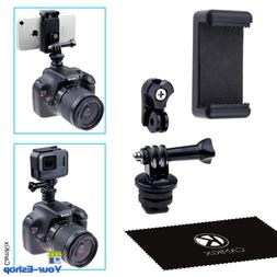 Hot Shoe Mount Adapter Kit- Attach Your Phone/GoPro Hero Fla