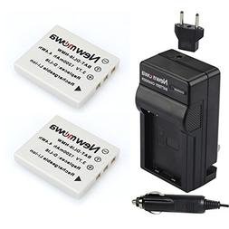 Newmowa D-Li8 Battery  and Charger kit for Pentax D-LI8, D-L