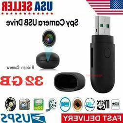New 32GB Hidden USB Camera HD Mini Video Recorder Camcorder