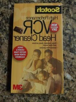 NEW & SEALED 3M SCOTCH VCR VHS & Camcorder Head Cleaner Clea