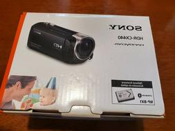 NEW! Sony Handycam HDR-CX440 1080p HD 8GB Internal Memory Bl