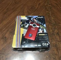 NEW Vivitar Red Digital Video Recorder 410 Flash Media Camco