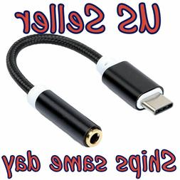 NEW USB C Type C 3.1 to 3.5mm Stereo Microphone Earphone Aud
