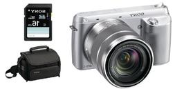 Sony NEX-F3K/S 16.1 MP Compact System Camera with 18-55mm Le