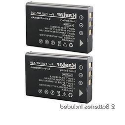 Kastar NP-120 Battery 2 Pack for Toshiba PX1657 PX1657E-1BRS