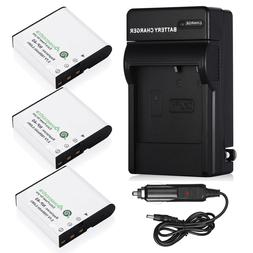 NP-40 Li-Ion Battery + Charger for Casio Exilim EX-Z1050 EX-