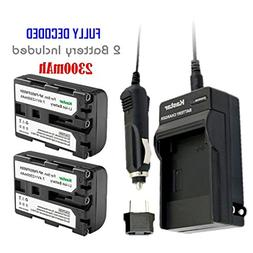 Kastar NP-FM50 Battery  and Charger for Sony NPFM50 NP-FM55H