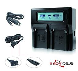 NP-F970 USB Dual Digital Battery Charger for Sony NP-F550 NP
