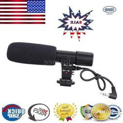 On-Camera Shotgun Stereo Recording Microphone Mic For DSLR C