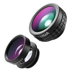 AUKEY Optic iPhone Lens, 180° Fisheye Lens + 110° Wide Ang