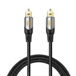Digital Optical Audio Cable,CableCreation 6FT Toslink Male S