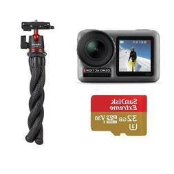 DJI Osmo Action 4K HDR Camera Bundle With 2-in-1 Mini Tripod