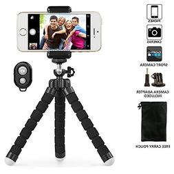 Phone Tripod, UBeesize Portable and Adjustable Camera Stand