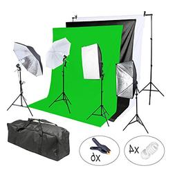 Lightdow Photographic 800W Softbox/Backdrop/Light Stand/Soft