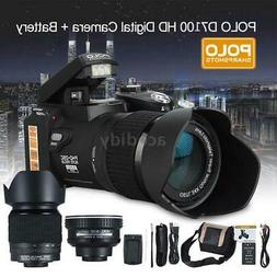 "PO LO DSLR Camera ULTRA HD 33MP 30fps 3"" LCD 24X ZOOM LED Di"