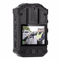 Police Body Camera With 2in Display Night VisionHD Waterpr