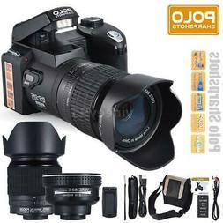 "POLO HD 33MP 3"" LCD 24X ZOOM Digital DSLR Camera Photo Video"