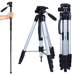 "Albott 70"" Travel Portable DSLR Camera Tripod Monopod Flexib"