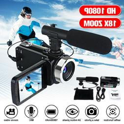 Portable Full HD 1080P 24MP 18X Zoom 3'' LCD Digital Camcord