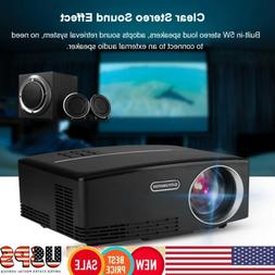 Portable Mini LED Projector Support 4K x 2K Ultra HDMI Media