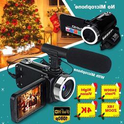 Professional 4K 1080P HD Camcorder <font><b>Video</b></font>