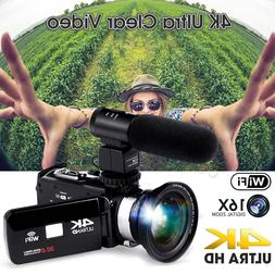 Professional 4K 1080P WiFi Digital Video Camera Camcorder Re