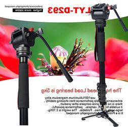 Professional Heavy Duty Monopod Fluid Head kit DV Video Came