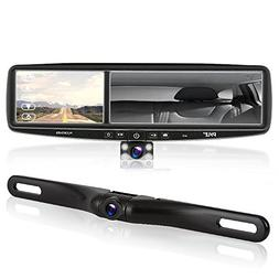 Pyle Rearview Mirror Backup Camera - Parking Monitor, Video