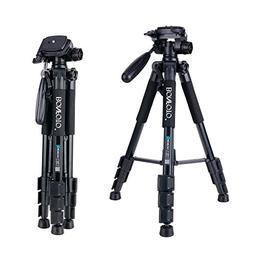 BONFOTO Q111 Camera Tripod 55-Inch Professional Aluminum Cam