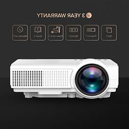 Projector, TENKER Q5 Mini LED Projector Portable Movie Proje