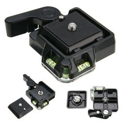 Quick Release QR Plate Clamps Mount Holder for Tripod Ball H