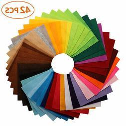 42pcs Colorful DIY Soft Nonwoven Felt Fabric Sheets Craft Pa