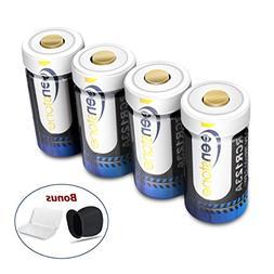 Keenstone RCR123A Rechargeable Camera Batteries, 4Pcs 700mAh