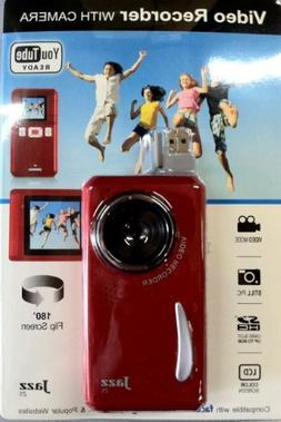 Jazz Red Z5 Video Recorder with Camera, Color Lcd, You Tube